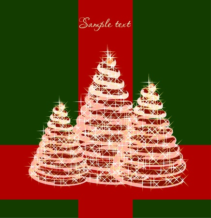 Christmas background with christmas tree  Vector Stock Vector - 13056338