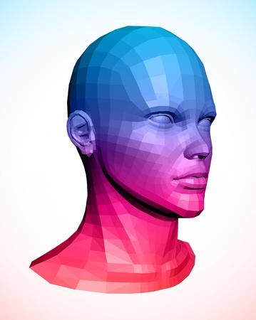 Human head  Abstract vector illustration