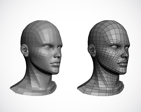 viewport: Female heads  Illustration