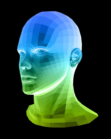 human head: Human head  Abstract illustration Illustration