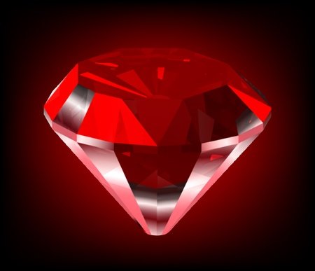 ruby gemstone: Shiny red diamond Illustration