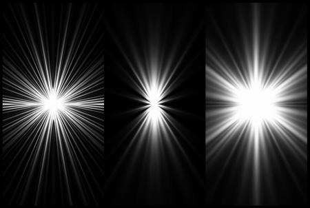 Set Black and White Lighting background  Vector