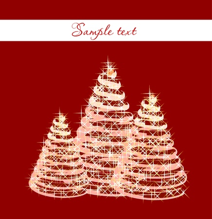 Christmas background with christmas tree Stock Vector - 13075046
