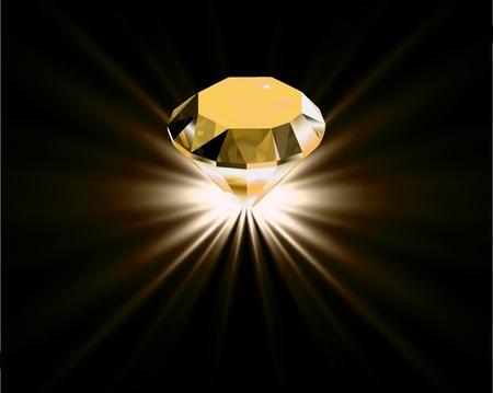 kopalni: Żółty diament Ilustracja