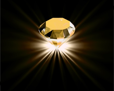 brilliant: Yellow diamond