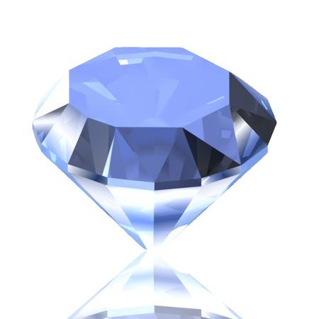 sapphire gemstone: Blue diamond illustration Illustration