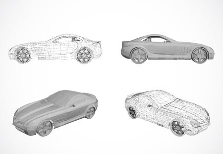 power grid: Set of Car design in illustration Illustration