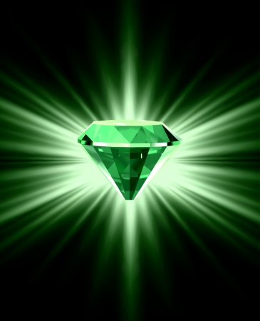 아름 다운 녹색 결정 배경
