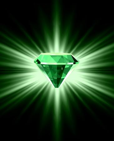 Prachtige groene kristal achtergrond Stock Illustratie