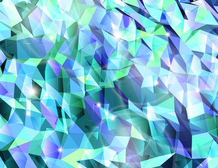 Abstract cyan background  Combination of triangle  Vector Vector