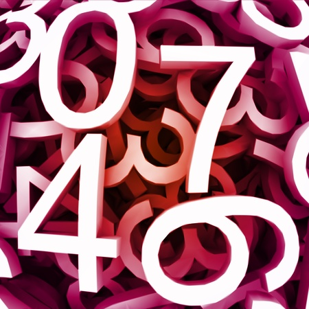 Set of digital numbers  Vector red background Stock Vector - 13273133