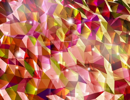Abstract red background  Combination of triangle  Vector Vector