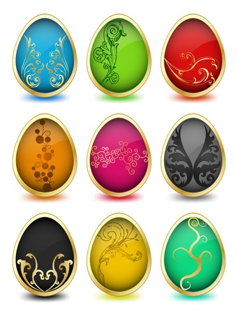 Set of easter eggs  Vector Vector