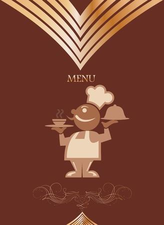 Restaurant menu design with chief  Vector Stock Vector - 13556955