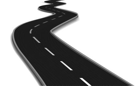 curvas: Carretera de curvas Vector puente