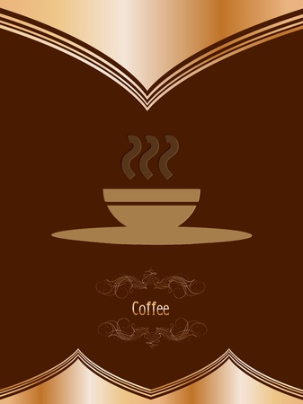 creamy: Vintage card with coffee mug  Vector
