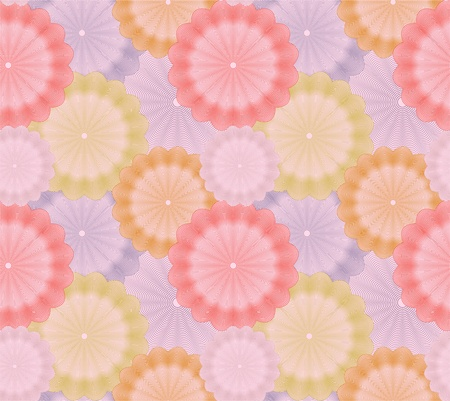 Abstract flower seamless background  Vector Vector