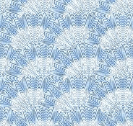 Seamless monochrome blue pattern Stock Vector - 13655609