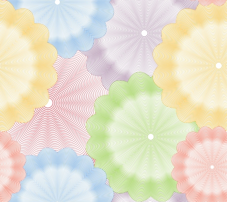 Abstract colorful flower seamless background  Vector Vector