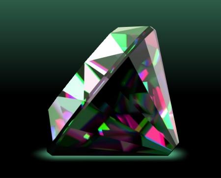 caustic: Shiny and bright diamond  Vector
