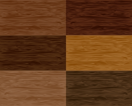 Stel hout naadloze patronen Vector