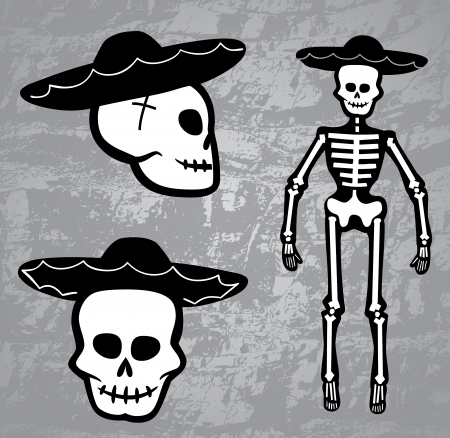 cross bones: Skeleton Cowboy