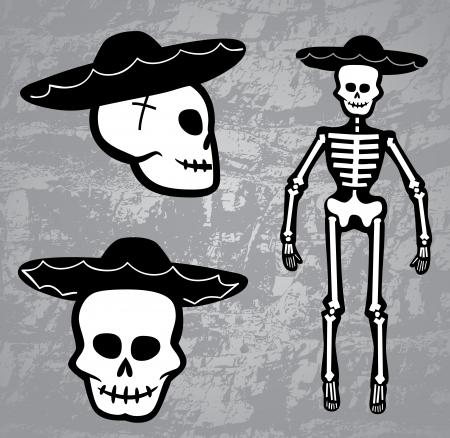 cross bone: Skeleton Cowboy