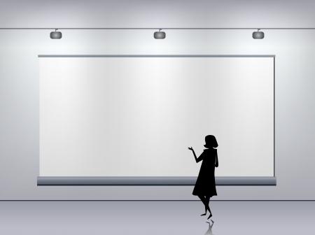 advertising board: Presentation advertising board  Illustration