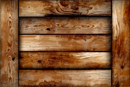 wood plank: Fragile wooden box background Illustration