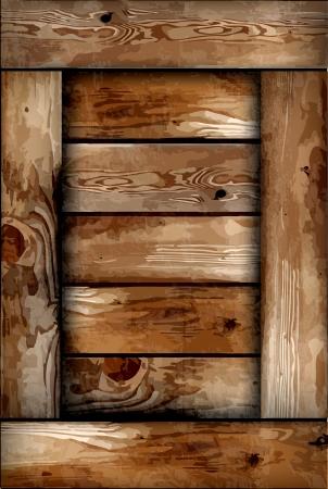 Fragile wooden box texture  Illustration