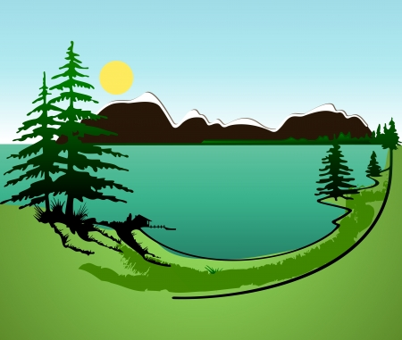 Summer in the mountains Stock Vector - 14192377