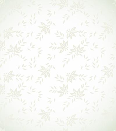Fondo floral de plata Ilustración de vector
