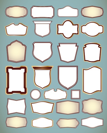 Set of ornate frames  Vector illustration Vector