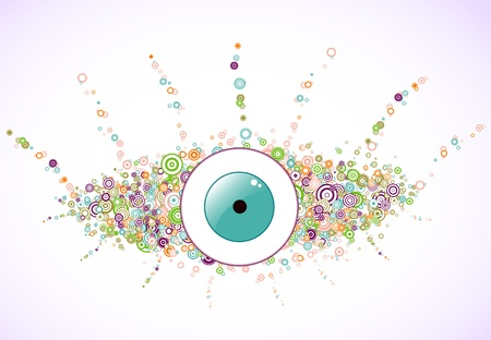 Abstract colorful eye of the circles  Vector Background Vector
