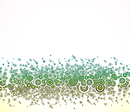Abstract background with green circles  Stock Vector - 14437955