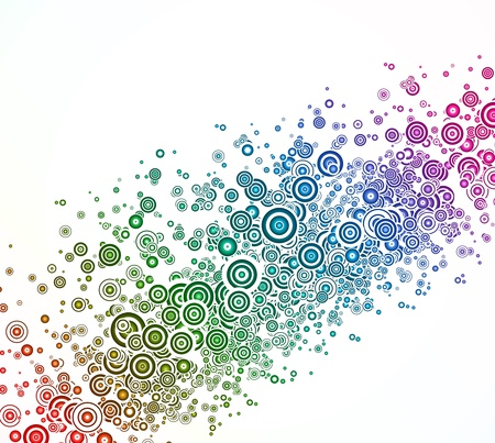 Abstract background with colorful circle Stock Vector - 14437957