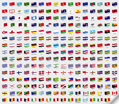 Big set wavy flags  Stock Vector - 14437954