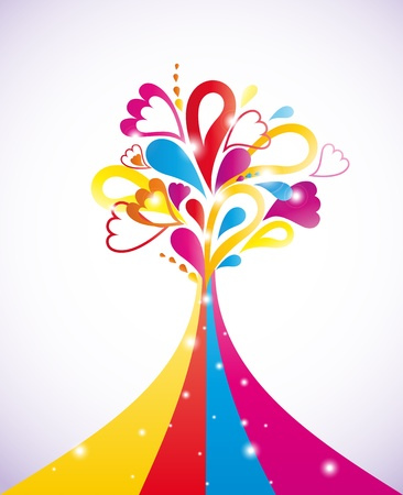 Painting colorful tree  Stock Vector - 14437953