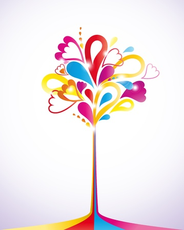 Painting colorful tree   Stock Vector - 14437967