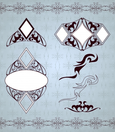 Ornamental frames and sign designs   Vector