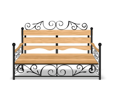 Classical park bench   Vector
