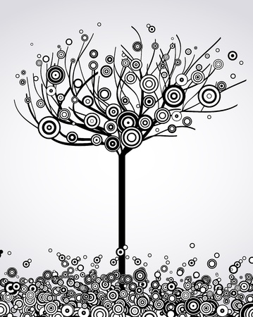 Abstract tree with round leaves  Vector Stock Vector - 14488208