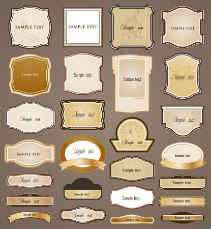 Ornamental frame  set Vector