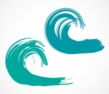 Two of wave  illustration Vector