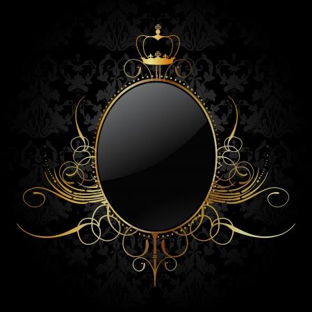 Royal background with golden frame Illustration