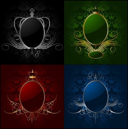 Set royal backgrounds with frame Stock Vector - 14714194
