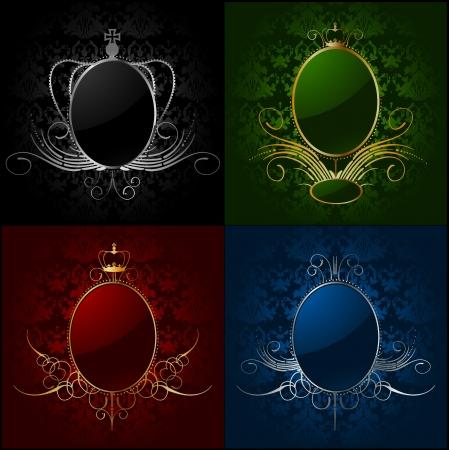 gilt: Set royal backgrounds with frame