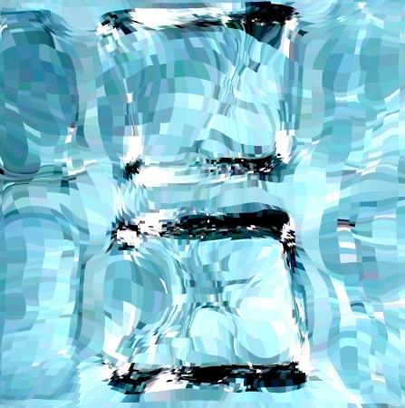 cubos de hielo: Cubitos de hielo azul ilustraci�n Vectores