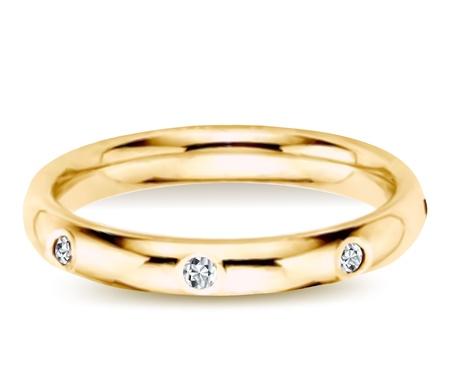 bague de fiancaille: Bague en or avec diamants Vector illustration Illustration