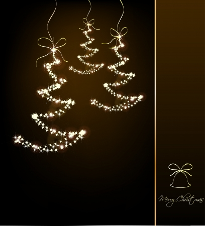 Funny Sparkler Trees  Vector illustration Vector